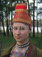 Свастика на Традиционном женском головном уборе кержаков Тверской области