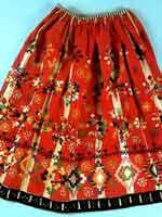 Солярные символы на женской юбке, конец 19 в, Тамбовская губ.