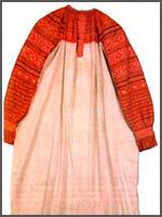 Женский свадебный наряд 1870-1880 гг. Вологодская губ., Сольвычегодский уезд