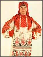 Женский свадебный наряд 1870 г. Вологодская губ., Сольвычегодский уезд