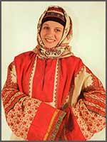 Женский свадебный наряд 1920-е гг. Пензенская губ., Керенский уезд, с. Вяземка