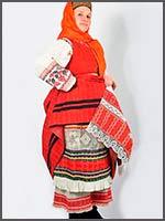 Женский праздничный костюм. Вологодская обл. из коллекции С. Глебушкина