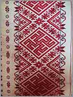 Календарь на старинном смоленском полотенце