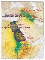 Переход из Междуречья в Египет (иллюстрация из книги академика Н.В. Левашова «Россия в кривых зеркалах»