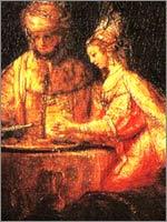 «Артксеркс, Аман и Эсфирь» Харменс ван Рейн Рембрандт, 1660
