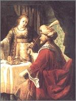 Клод Вигнон «Эстер перед Ахашверошем», 1624