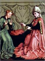 Конрад Виц «Эсфирь перед Артаксерксом», ок. 1434-1435