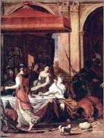 Ян Ливенс «Пир Эсфири», 1625 г.