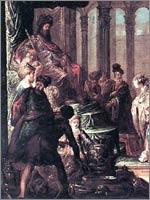 Рембрандт Харменс Ван Рейн «Аман, Ахашверош и Эстер», 1660