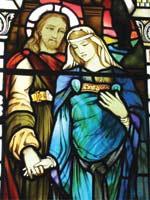 Беременная Мария Магдалина с Радомиром (Иисусом Христом). Иллюстрация из книги Светланы Левашовой «Откровение»