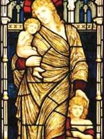 Мария Магдалина со своими детьми: дочерью Вестой и сыном Светодаром. Иллюстрация из книги Светланы Левашовой «Откровение»