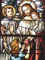 Радомир с детьми: дочерью Вестой и сыном Светодаром. Иллюстрация из книги Светланы Левашовой «Откровение»