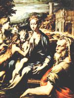 Иоанн с Ведуньей Марией и её детьми – Раданом и Радомиром. Иллюстрация из книги Светланы Левашовой «Откровение»