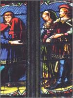Трубадур показывает голову Иоанна Окситанской знати. Иллюстрация из книги Светланы Левашовой «Откровение»