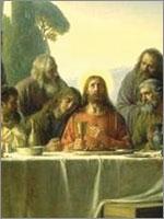 Иудейский пророк Джошуа со своей женой Марией и апостолами Петром, Павлом, Матфеем... Тайная вечеря. Иллюстрация из книги Светланы Левашовой «Откровение»