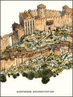Таким был Монсегюр в 1244 году... Иллюстрация из книги Светланы Левашовой «Откровение»
