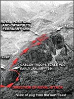 План захвата Монсегюра. Иллюстрация из книги Светланы Левашовой «Откровение»