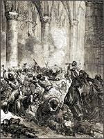 Сожжение 7000 жителей города Безье в церкви Марии Магдалины 22 июля. В день именин Золотой Марии...  Иллюстрация из книги Светланы Левашовой «Откровение»