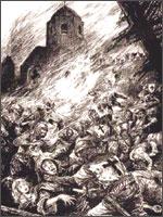 Безье, бесчеловечное уничтожение жителей города.  Иллюстрация из книги Светланы Левашовой «Откровение»