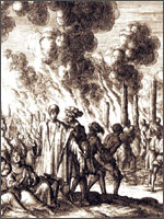 Альби, 1209 год, 27 июня. Полное истребление населения.  Иллюстрация из книги Светланы Левашовой «Откровение»