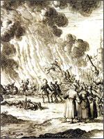 Миневра, 1210 год, 15 июня. Убийство всех жителей города.  Иллюстрация из книги Светланы Левашовой «Откровение»