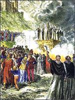 Казнь катар в Монсегюре. Иллюстрация из книги Светланы Левашовой «Откровение»