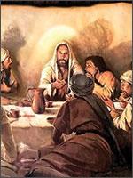 Джошуа со своими сподвижниками на «тайной вечере», Дарохранительный Институт в США. Иллюстрация из книги Светланы Левашовой «Откровение»