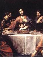 «Тайная вечеря». Валентин де Булонь (1591-1632). Национальная Галерея «Античное Искусство», Рим. Иллюстрация из книги Светланы Левашовой «Откровение»