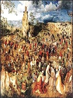 Распятие Радомира на «Лысой Горе», 1086 год, Константинополь. Из картины Брейгеля-старшего. Иллюстрация из книги Светланы Левашовой «Откровение»