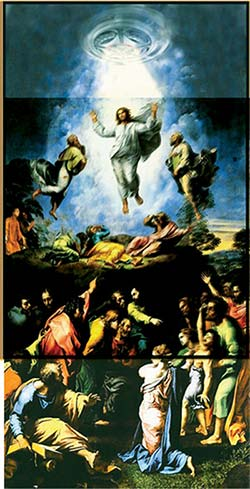 Совмещение двух картин Рафаэля. Иллюстрация из книги Светланы Левашовой «Откровение»