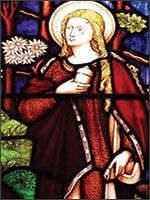 На витраже – Магдалина в Окситании, после пережитой боли. Иллюстрация из книги Светланы Левашовой «Откровение»