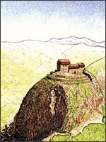 Рисунок самого первого Монсегюра, в котором прожила свои восемь последних лет Магдалина. Иллюстрация из книги Светланы Левашовой «Откровение»