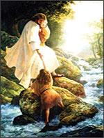 Радомир с детьми на прогулке. Картина Грегори Олсена (Gregory Olsen) «Христос в лесу с детьми». Иллюстрация из книги Светланы Левашовой «Откровение»