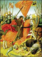 Воины-катары, объединённая армия графа Тулузского защищает город Тулузу от Папских наёмников... Иллюстрация из книги Светланы Левашовой «Откровение»