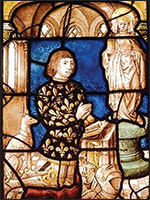 Коленопреклонённый Рыцарь перед статуей Марии Магдалины. Иллюстрация из книги Светланы Левашовой «Откровение»