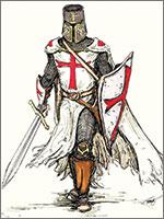 Рисунок Воина-Тамплиера от компании «Ангельский Огонь» (Angelfire). Иллюстрация из книги Светланы Левашовой «Откровение»