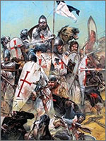 Тамплиеры гибли сотнями против десятков тысяч... Иллюстрация из книги Светланы Левашовой «Откровение»