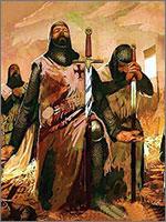 Тамплиеры просят прощения у убитых во время сражения душ... Иллюстрация из книги Светланы Левашовой «Откровение»