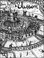 Ранний рисунок замка Уссон. Иллюстрация из книги Светланы Левашовой «Откровение»