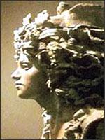 Эсклармонд де Уссон, скульптура в камне. Иллюстрация из книги Светланы Левашовой «Откровение»