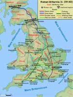 Карта «римских» дорог в Великобритании