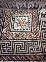 Мозаика на «римской» вилле в Одлборо, графство Нью Йоркшир, северо-восток Англии (Aldborough, New Yorkshire)