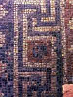 Мозаика в «римском» городе Бат, графство Сомерсет, юго-запад Англии (Bath, Somerset)