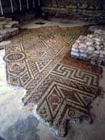 Мозаика на «римской» вилле в Норслее, графство Оксфордшир, юг Англии (North-Leigh, Oxfordshire)
