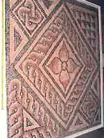 Мозаика на «римской» вилле в Колчестере, графство Эссекс, юго-восток Англии (Colchester, Essex)