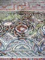 Мозаика на «римской» вилле в Дорчестере, графство Оксфордшир, юг Англии (Dorchester, Oxfordshire)