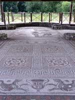 Мозаика на «римской» вилле в Литлкоте, графство Вилтшир, юго-запад Англии (Littlecote,Wiltshire)