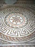 Мозаика на «римской» вилле в Винчестере, графство Хэмпшир, юг Англии (Winchester, Hampshire)