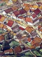 (Bibracte). Реконструкция части города по данным раскопок 2001 г.