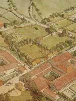 Бибракта (Bibracte). Реконструкция части города с большими домами местной аристократии по данным раскопок 2001 г.